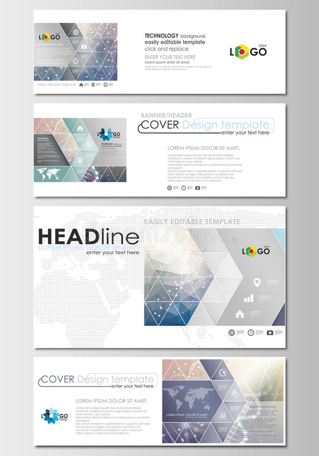 Download Social Media And Email Headers Set Modern Banner Templates Cover Design Template