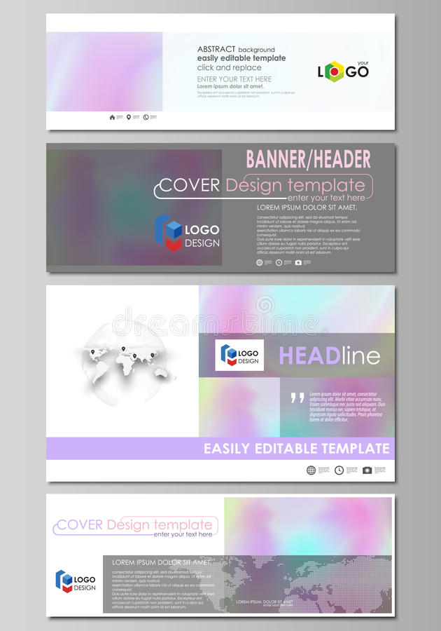 Download Social Media And Email Headers Set Modern Banners Abstract Business Design Templates