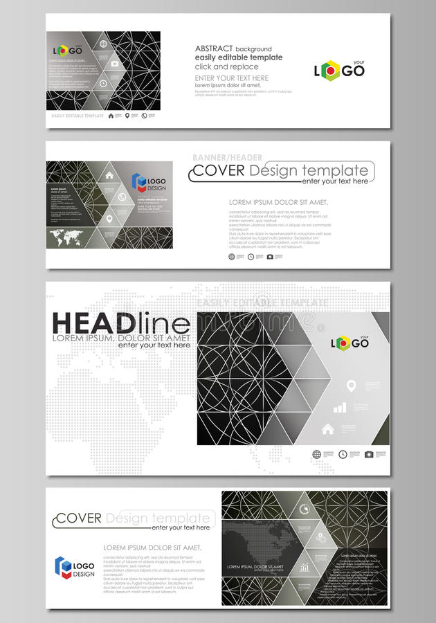 Social media and email headers set, modern banners. Business design templates. Social media and email headers set, modern banners. Business templates. Easy royalty free illustration