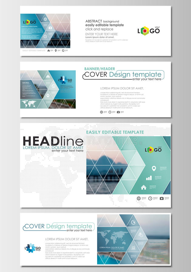 Social media and email headers set modern banners business download social media and email headers set modern banners business templates cover design flashek