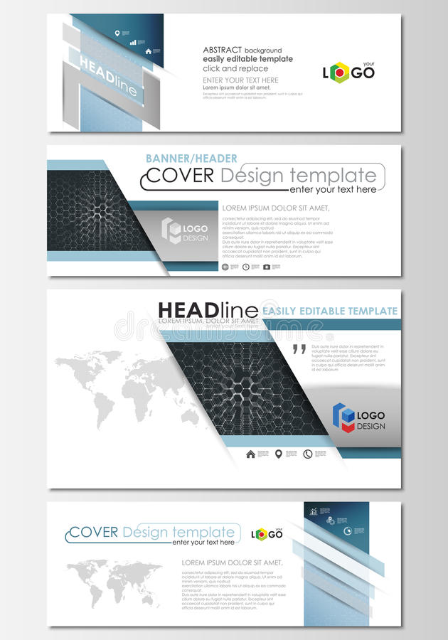 Social media and email headers set modern banners business social media email headers set modern banners business templates cover design template flat layouts chemistry pattern 79328436g altavistaventures Image collections