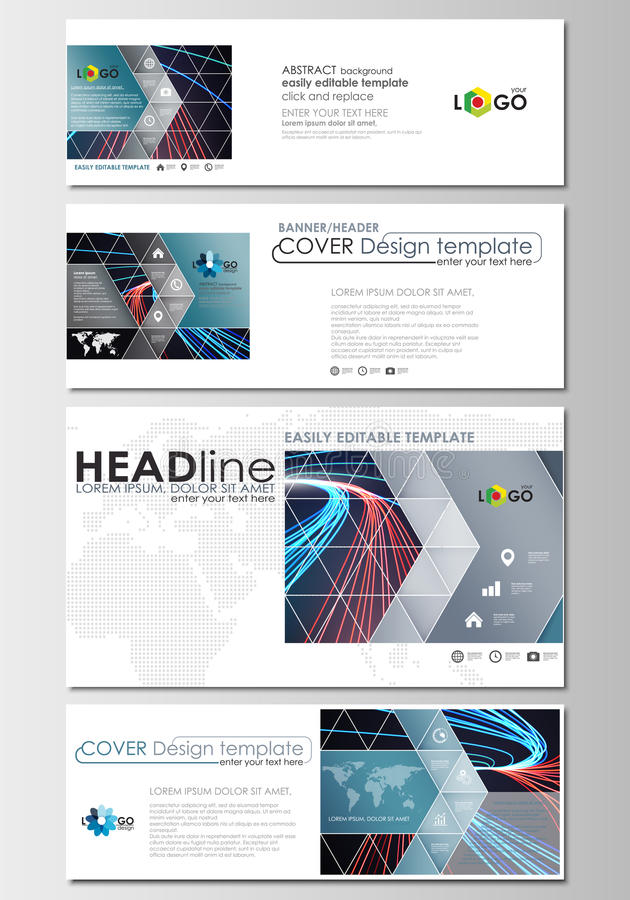 Download Social Media And Email Headers Set Modern Banners Business Templates Cover Template
