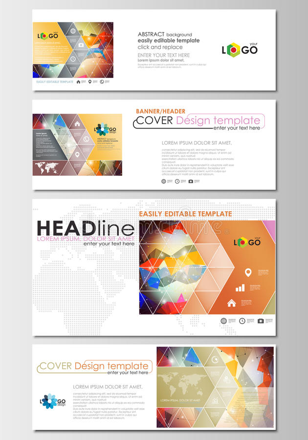 Download Social Media And Email Headers Set Modern Banners Business Templates Easy Editable