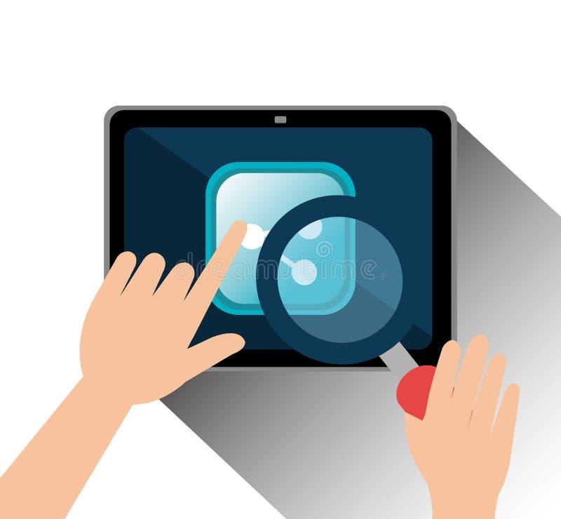 Social media entertaiment. Graphic design, illustration vector illustration
