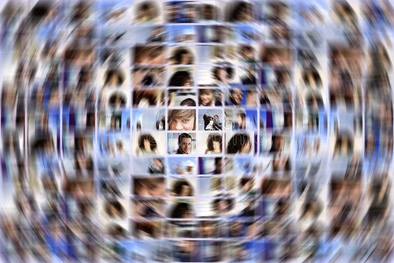 Social media expansion stock images