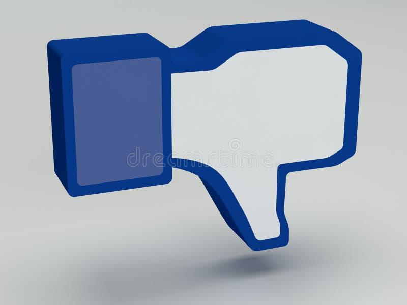 Download Social Media  Facebook  Dis-like Stock Illustration - Illustration: 33983993