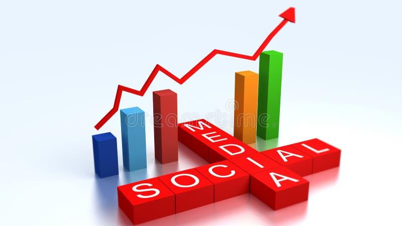 Social media graph vector illustration