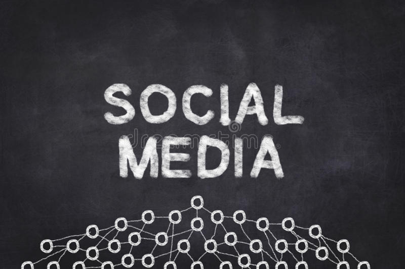 Social Media graphic - chalkboard stock photography