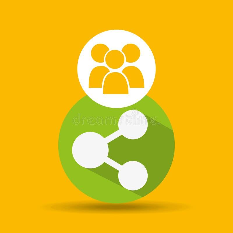 Social media group sharing design. Vector illustration eps 10 stock illustration
