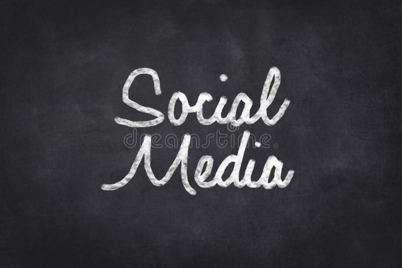 Social Media- handwritten on chalkboard royalty free stock photography
