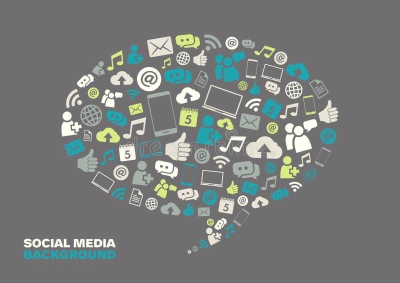 Social Media-Hintergrund stock abbildung