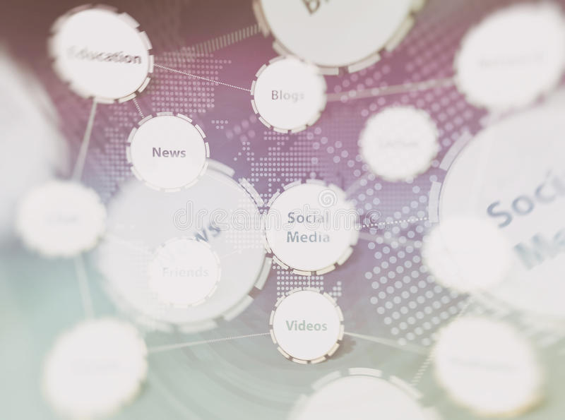 Social Media-Hintergrund stockbilder