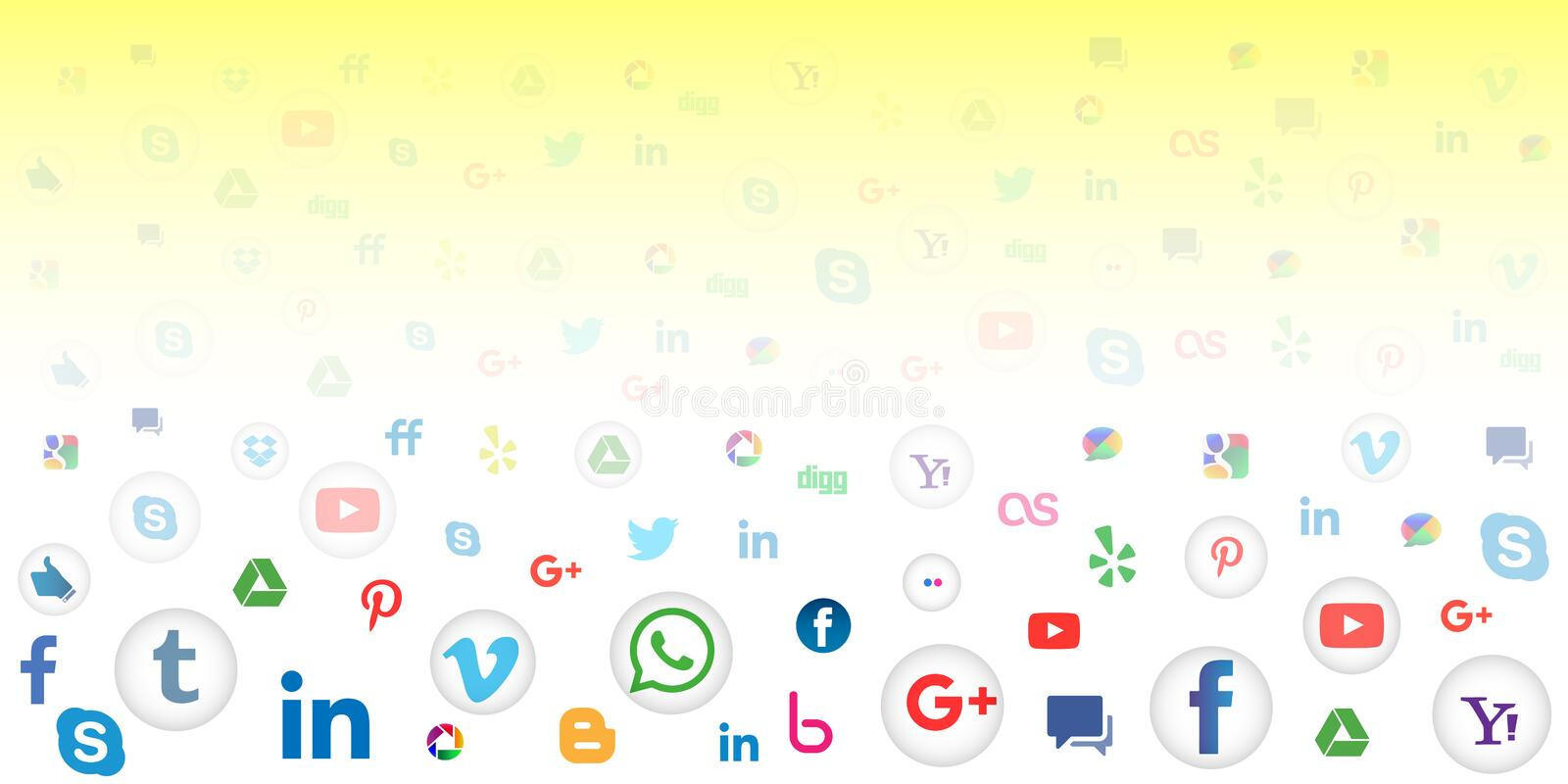 Social media icon background for wallpaper. Social media background of the icons vector. Ai10 file version. This illustration contains transparencies and is vector illustration