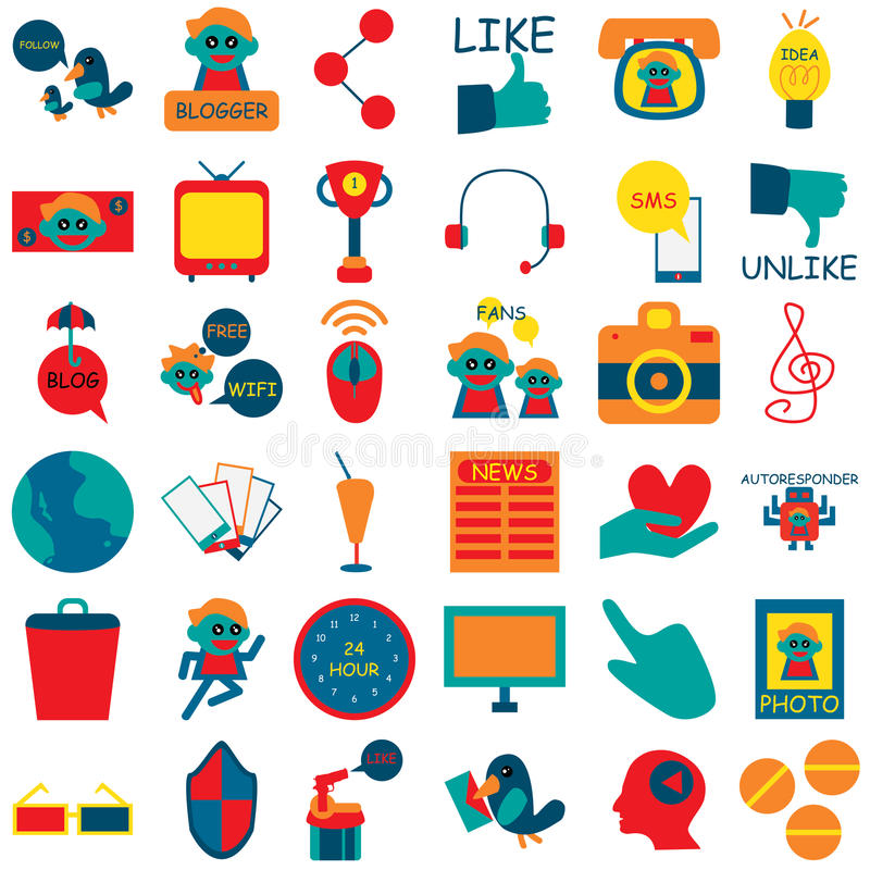 Social Media Icon 3 vector illustration