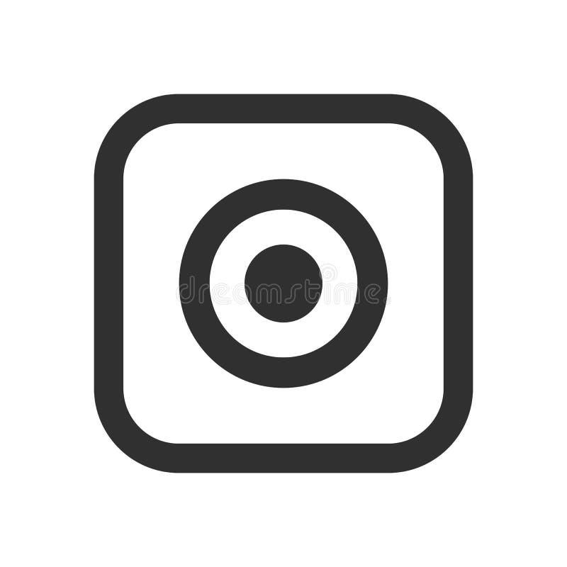 Social media icon, photo camera instagram icons royalty free illustration
