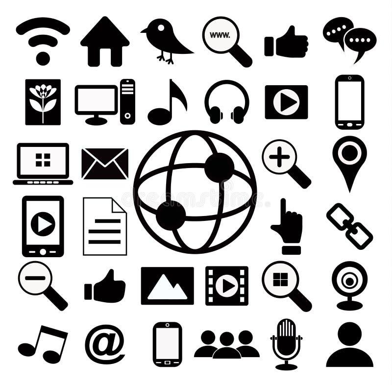 Social media icon set stock image