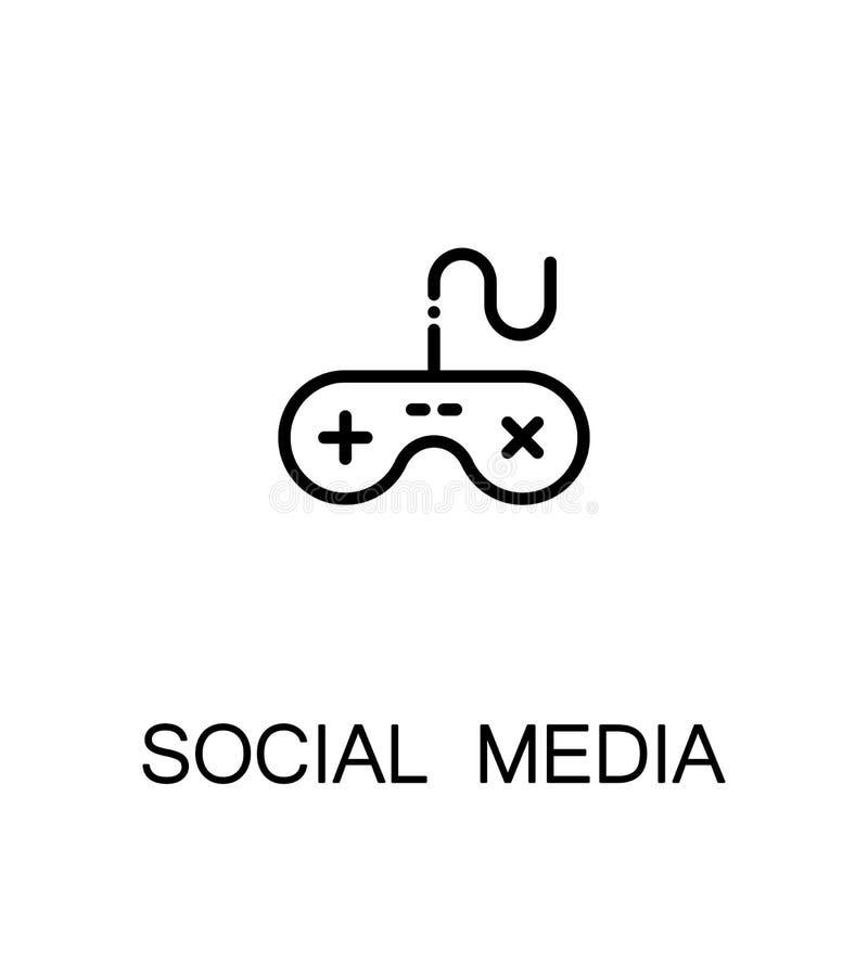 Social media icon. Single high quality outline symbol for web design or mobile app. Thin line sign for design logo. Black outline pictogram on white background royalty free illustration