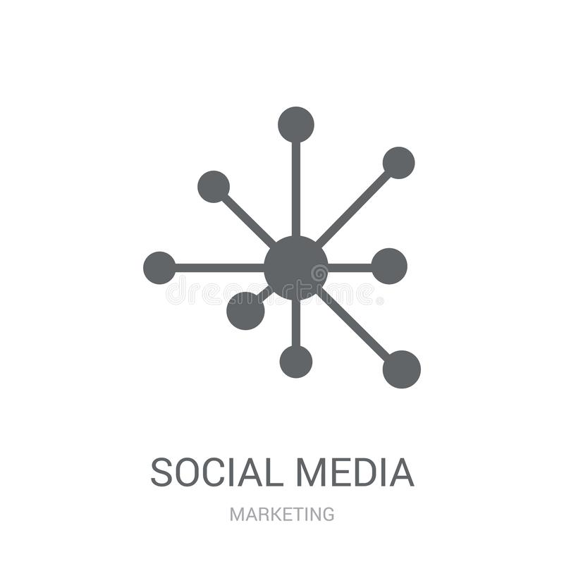 Social media icon. Trendy Social media logo concept on white background from Marketing collection stock illustration