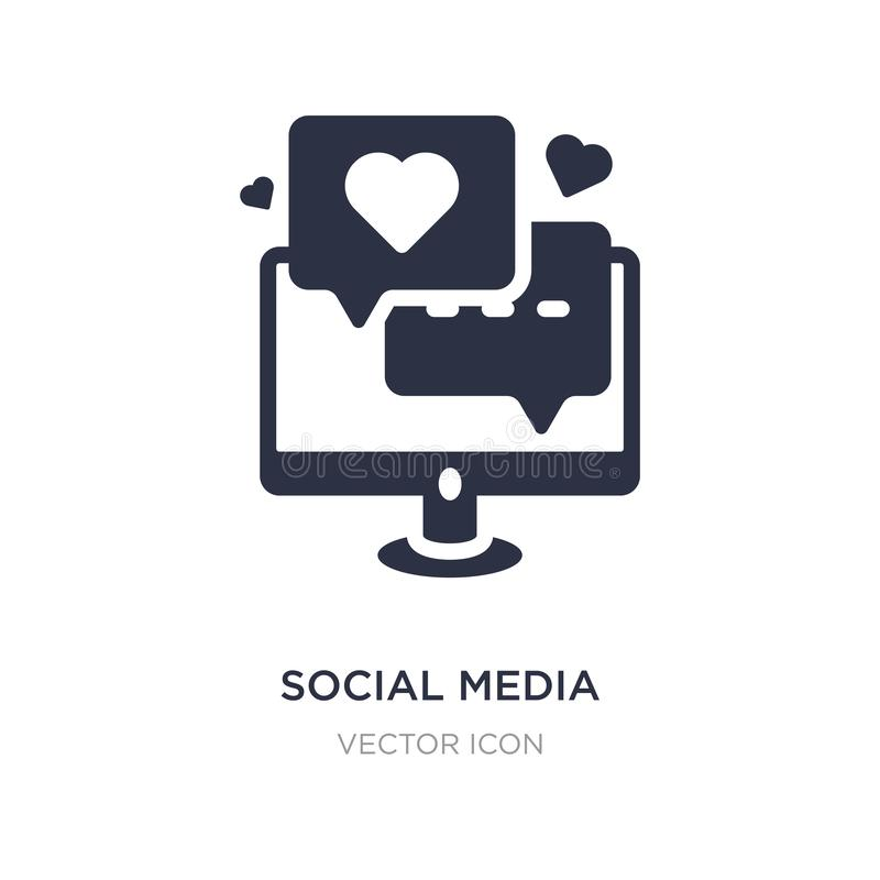 social media icon on white background. Simple element illustration from Digital economy concept royalty free illustration