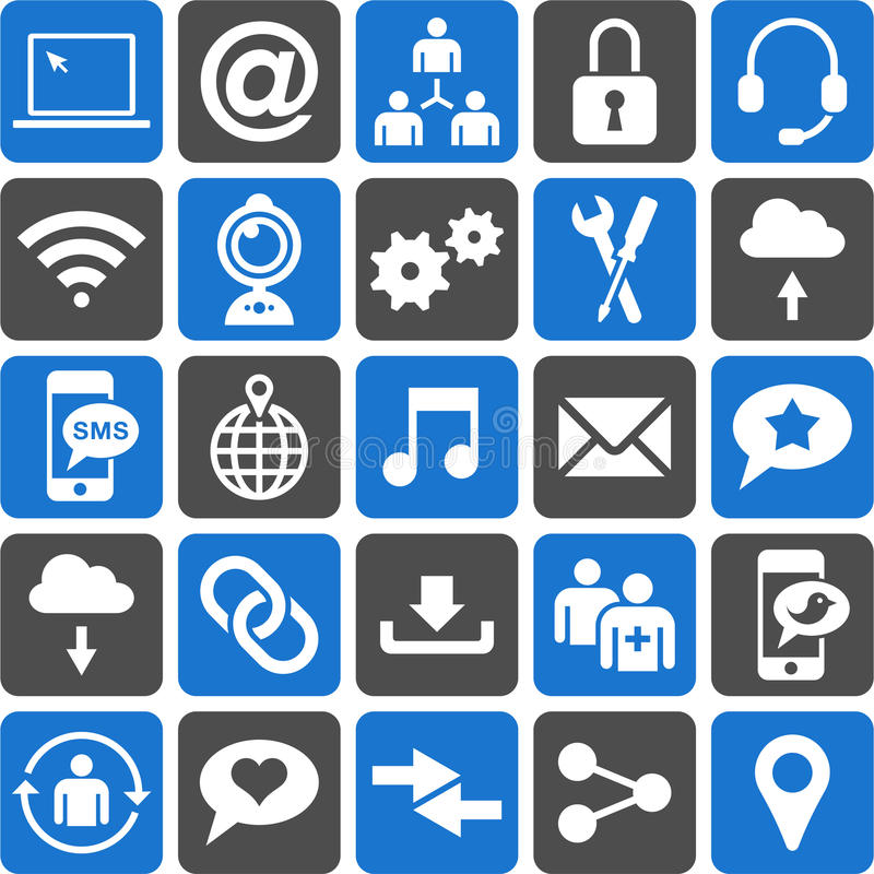 Download Social Media icons stock vector. Image of icons, element - 29521115