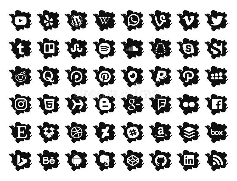 Social Media Icons vector illustration