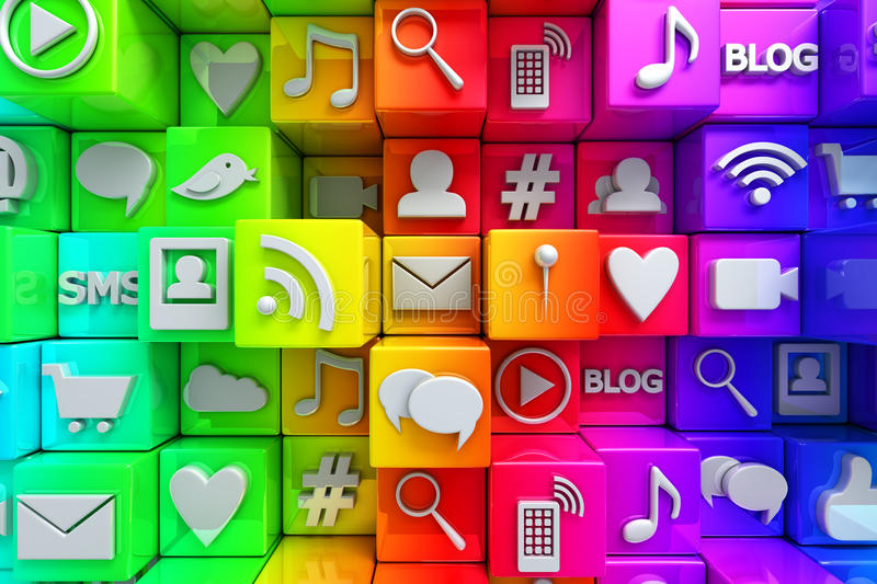 Download Social media icons stock illustration. Image of computer - 34130252