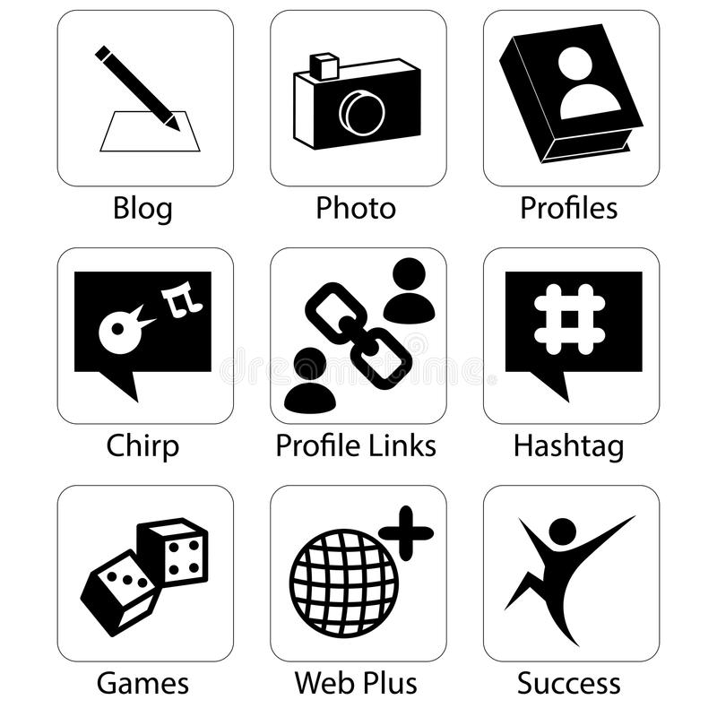 Social Media Icons. An image of social media icons vector illustration