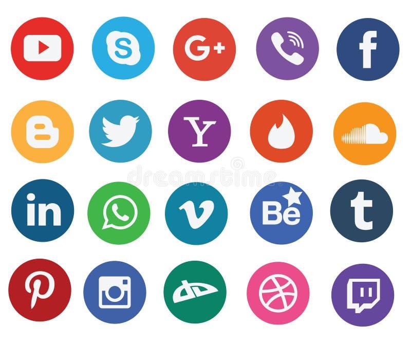 Social media icons stock illustration