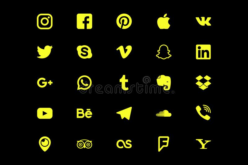Social Media Icons 2 stock illustration