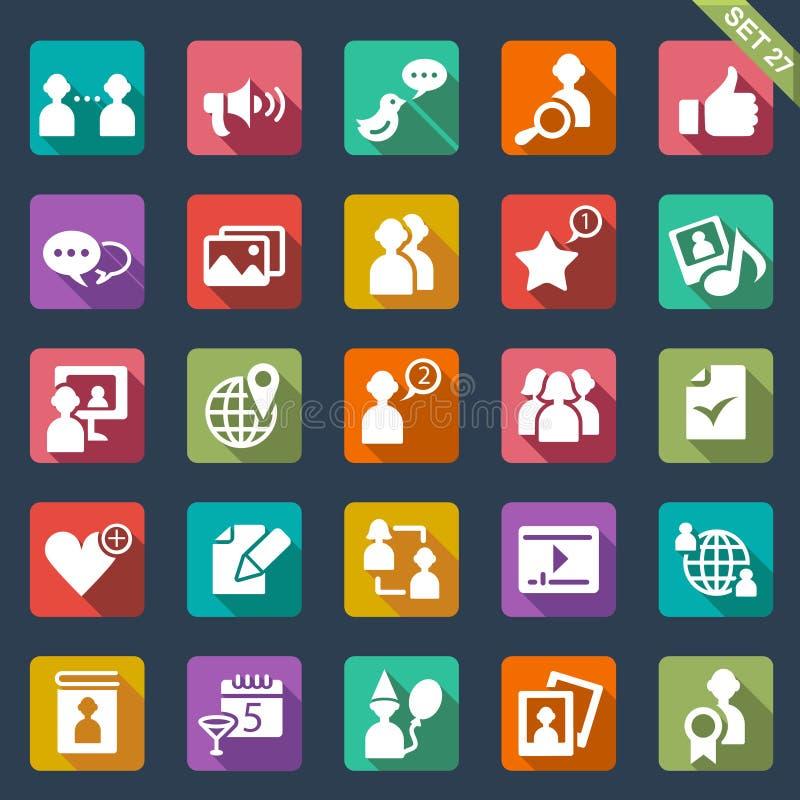 Social media icons. Set of 25 social media icons royalty free illustration