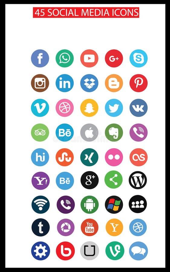 Social Media Icons (Set2) vector illustration