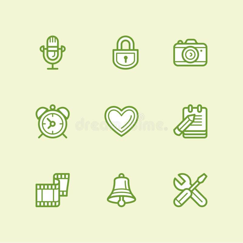 Social media icons vector royalty free illustration