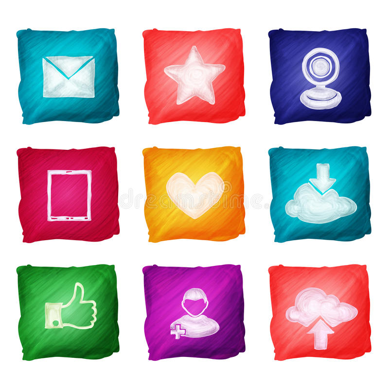 Download Social Media Icons Watercolor Stock Vector - Image: 43808645