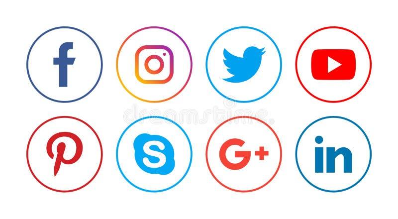Social Media-Ikonen stock abbildung