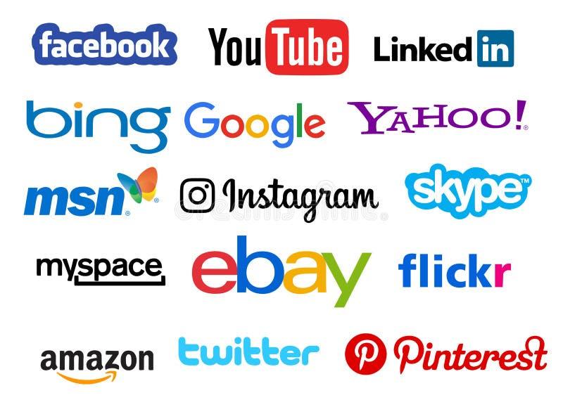 Social Media-Ikonen vektor abbildung
