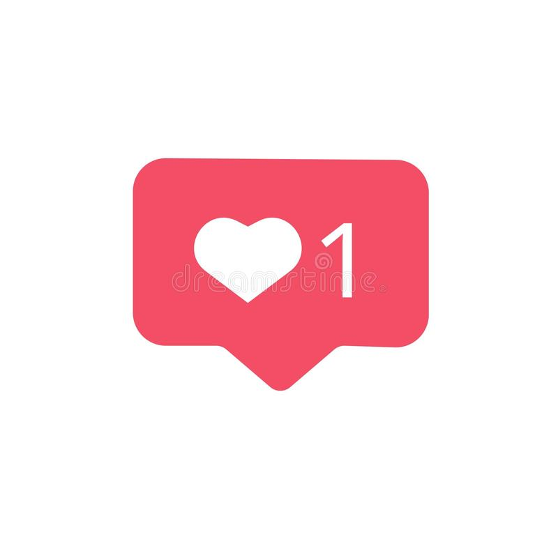 Social media instagram modern like 1. Social media instagram modern like for web, app, icon, like , vector file , illustration, instgram comments, symbol royalty free illustration