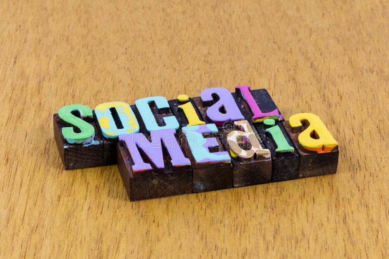 Social media internet communication networking chat email text royalty free stock photography