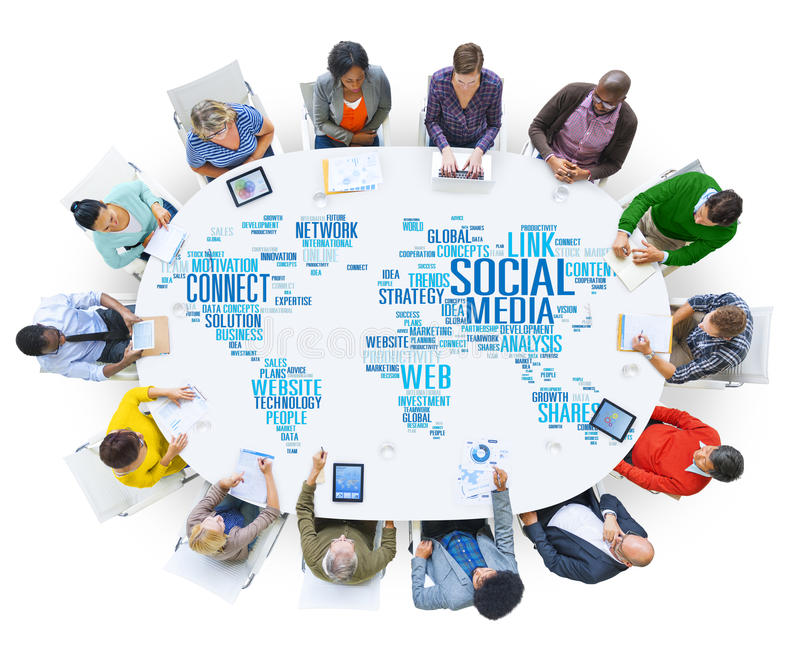 Social Media Internet Connection Global Communications Networkin. G Concept stock photos