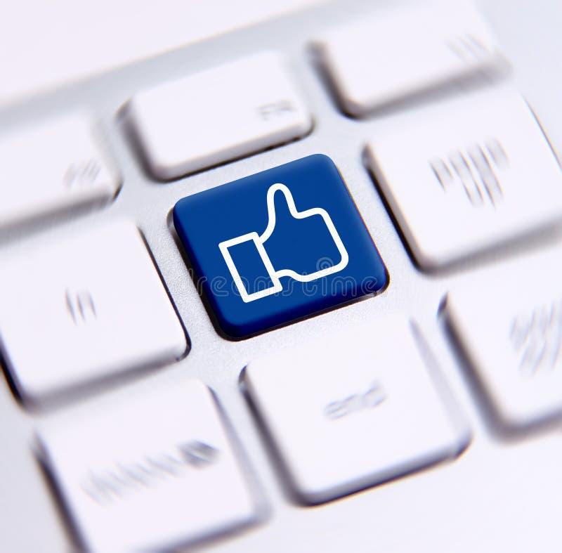 Social Media Key Royalty Free Stock Photography