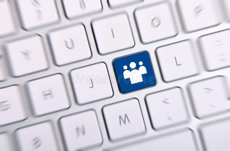 Download Social Media Key stock photo. Image of network, global - 34091502