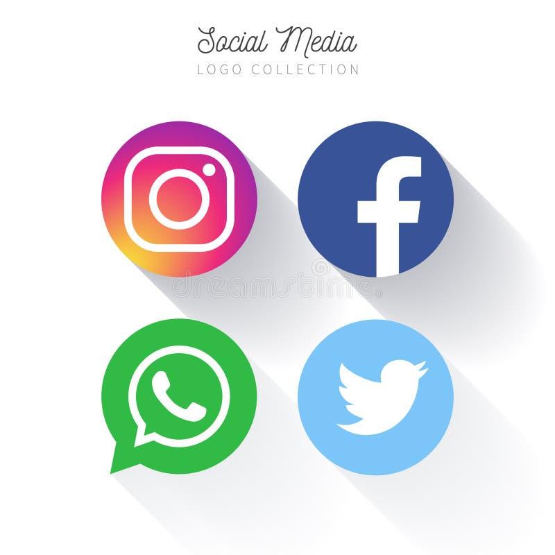 Social Media-Knöpfe lizenzfreie abbildung