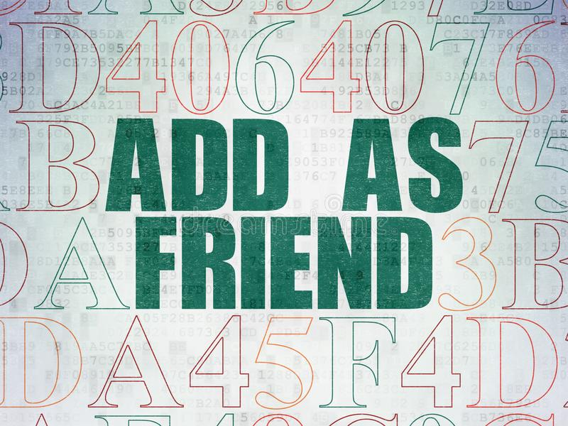 Social Media-Konzept: Fügen Sie hinzu, wie Freund auf Digital-Daten Hintergrund tapezieren lizenzfreie abbildung