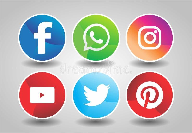 Social media logos pack,Collection Of Social Media Icons And Logos Stock vector illustration
