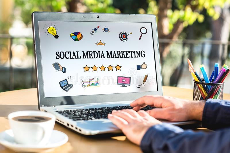 Social Media Marketing Concept royalty free stock photography