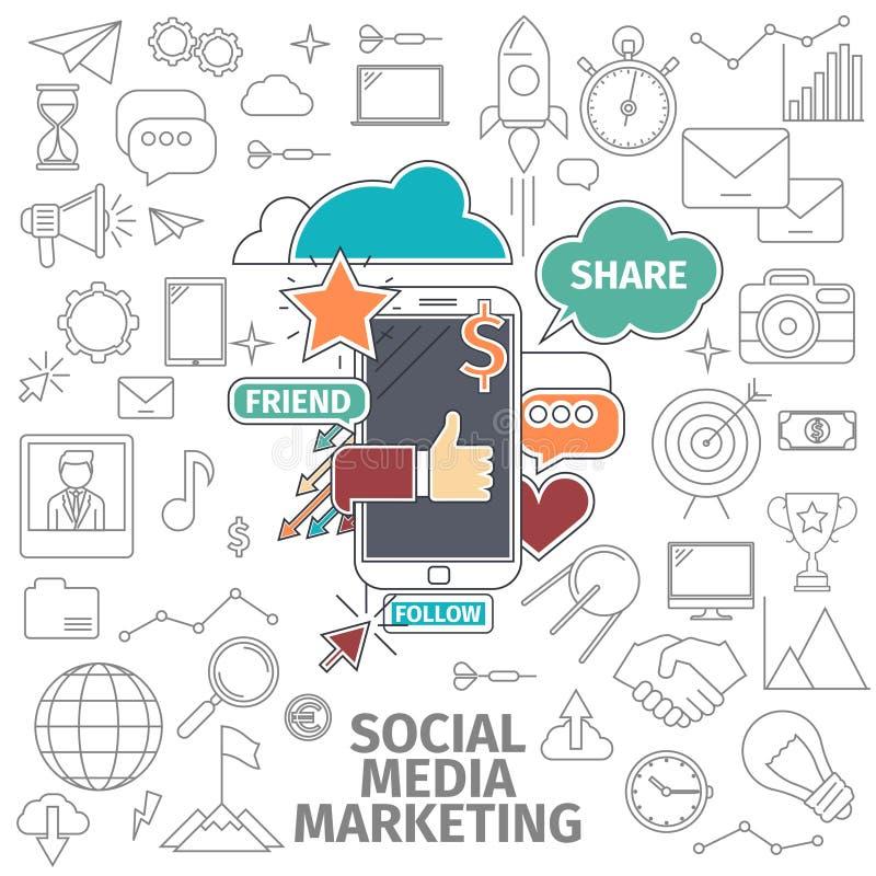 Social media marketing stock illustration