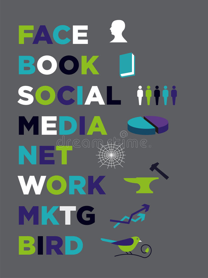 Social Media Marketing icons royalty free stock images
