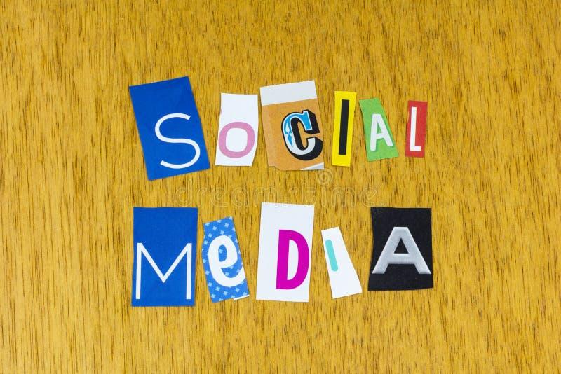 Social media marketing message content blog website target market stock image