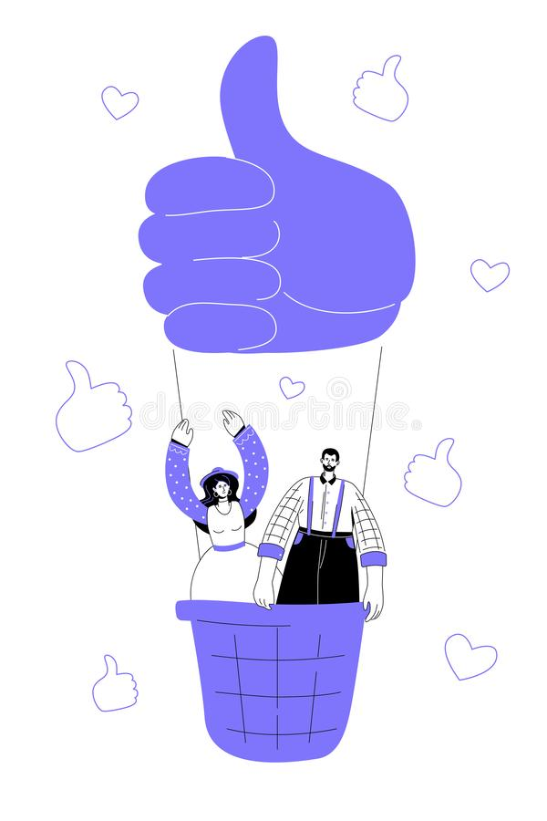Social media marketing - modern flat design style colorful illustration vector illustration