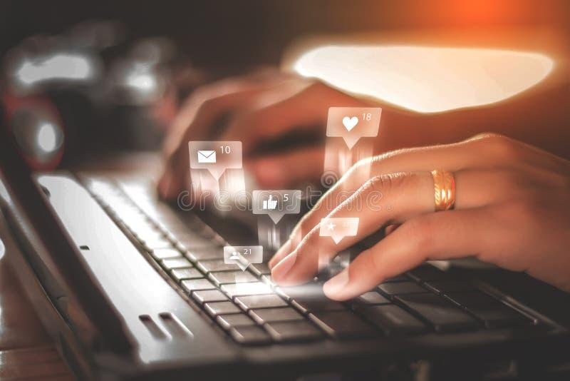 Social media and Marketing stock image
