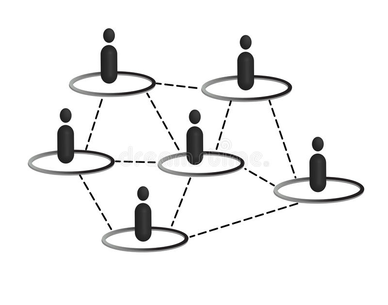Social media network. Social media People network illustration black and white .eps file is available vector illustration